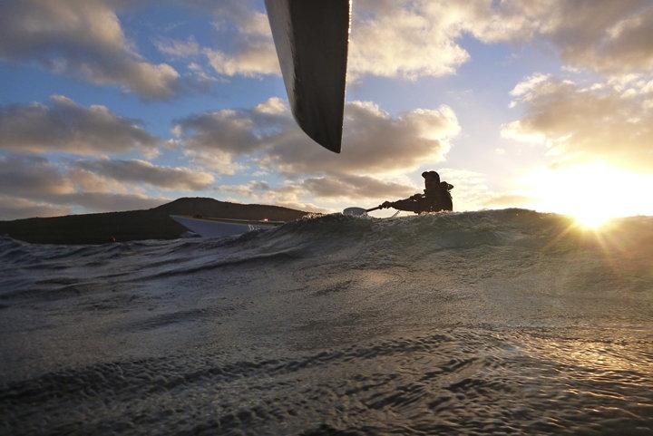 Setting Sun on the South Coast Photo by Andrew Munyard  Taken on the night paddle at the 2014 Sea Kayak Symposium, Albany.