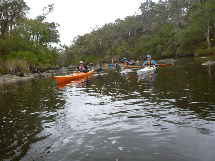 Paddling the Kalgan Photo by Steve Foreman.